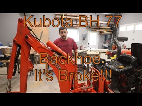 Kubota Backhoe BH77 Cylinder Problem!