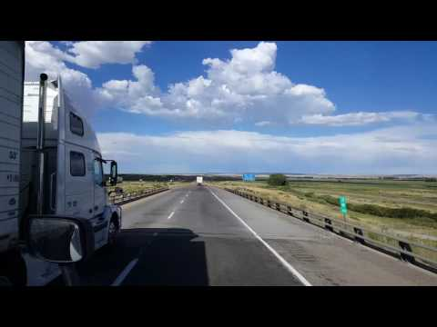 BigRigTravels - Interstate 80 Eastbound Fort Bridger, Wyoming to Little America Truckstop