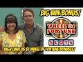 BIG WIN! WHEEL OF FORTUNE SLOT MACHINE $1 Vs $5 dollar denomination