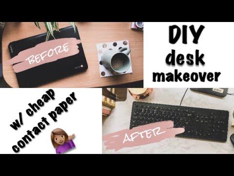 Diy Desk Makeover W Cheap Contact Paper By Brigette Danielle