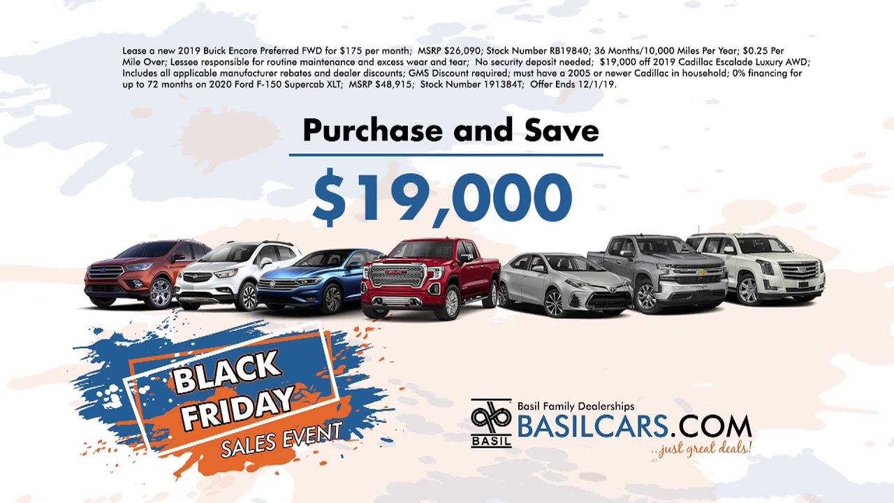 Basil Used Cars >> Black Friday Is Going On Now At All 11 Basil Family Dealerships