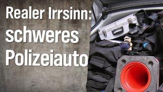 Realer Irrsinn: Schwerverbrecher zu schwer für Polizeiauto