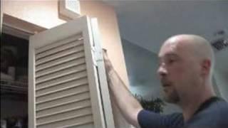How to Install a Bi-Fold Door : Installing a Bi-Fold Door without Adjustments