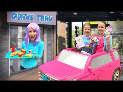 Collecting Uni-Verse Toys At The Pretend Drive-Thru