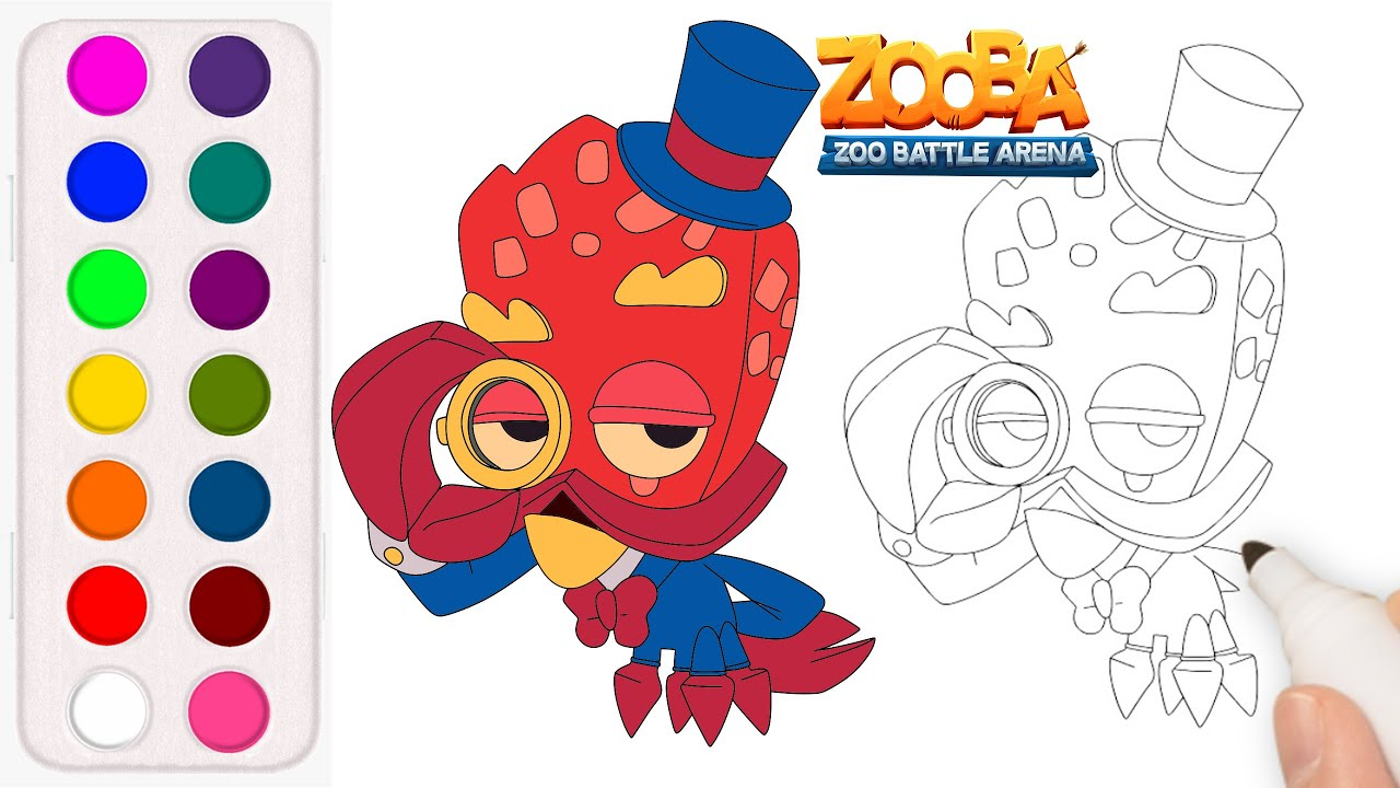 How To Draw And Color Earl From Zooba Earl Zooba Youtube