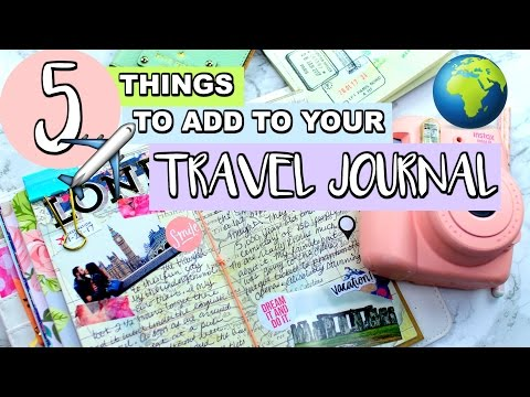 5 THINGS TO ADD TO YOUR TRAVELING JOURNAL! | Belinda Selene