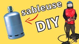 📢📢📢 fabrication sableuse artisanale en bouteille de gaz 📢📢📢