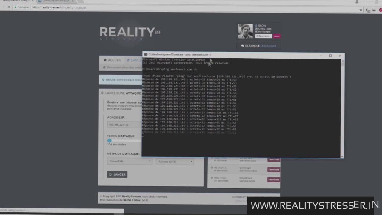 Démonstration de la puissance L4 & L7 RealityStresser (CLOUDFLARE  BYPASS/GREENSYN) 2019 !! NEW LINK