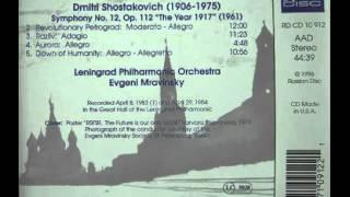 ムラヴィンスキー指揮:ルスランとリュドミラ序曲(1983年ライヴ録音)
