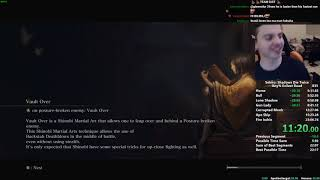 Sekiro Any% Speedrun in 22:57 (World Record)