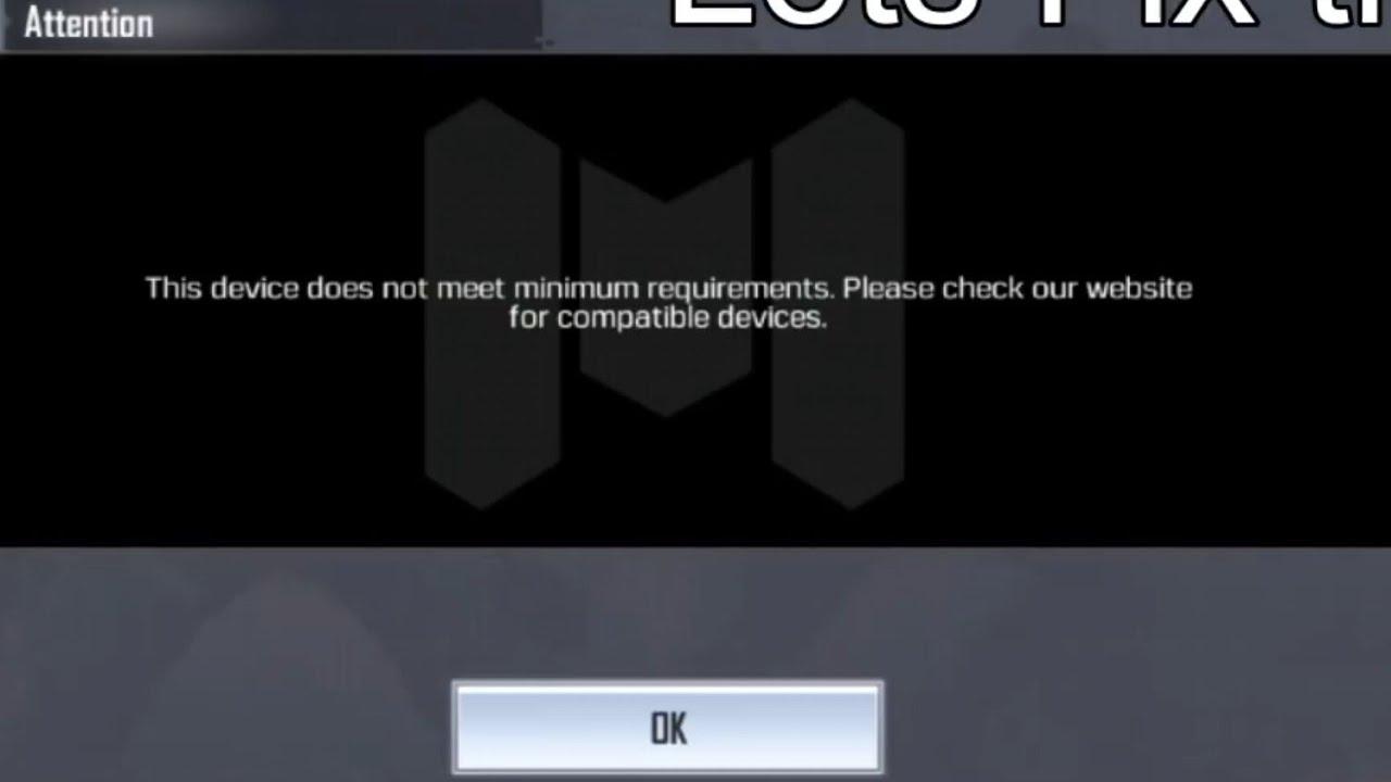 Call Of Duty Mobile Solución Dispositivo No Compatible