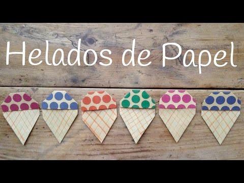 Crea este helado de papel, origami fácil para niños