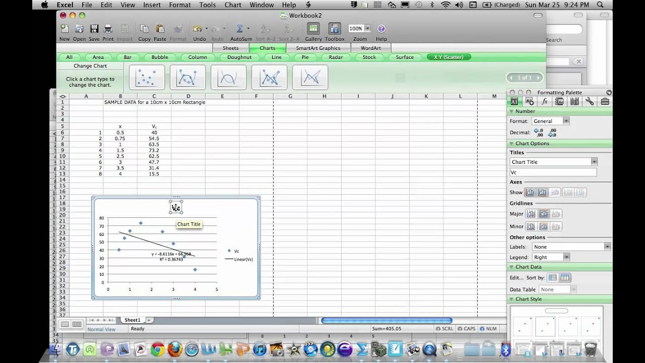 How To Show Graph Equation In Excel Mac on Ter Plot Worksheet With Answers