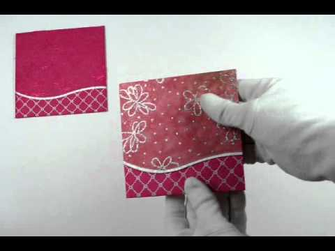 D 1831 Pink Color Handmade Paper Small Size Cards Light Weight