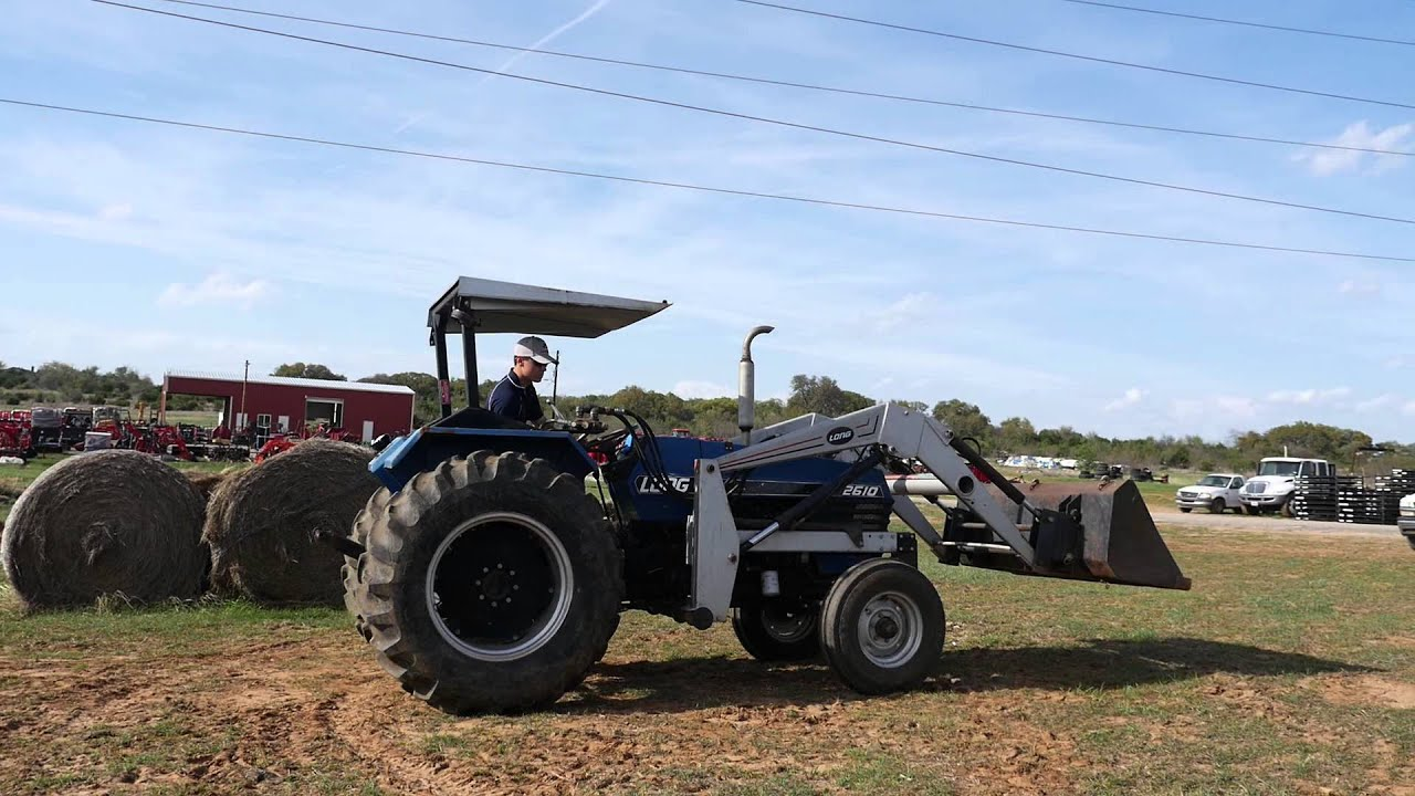 & Demo Video of Long 2610 Tractor with Loader Canopy - YouTube
