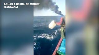 Decenas de jóvenes desaparecidos tras el incendio de un cayuco que iba a Canarias