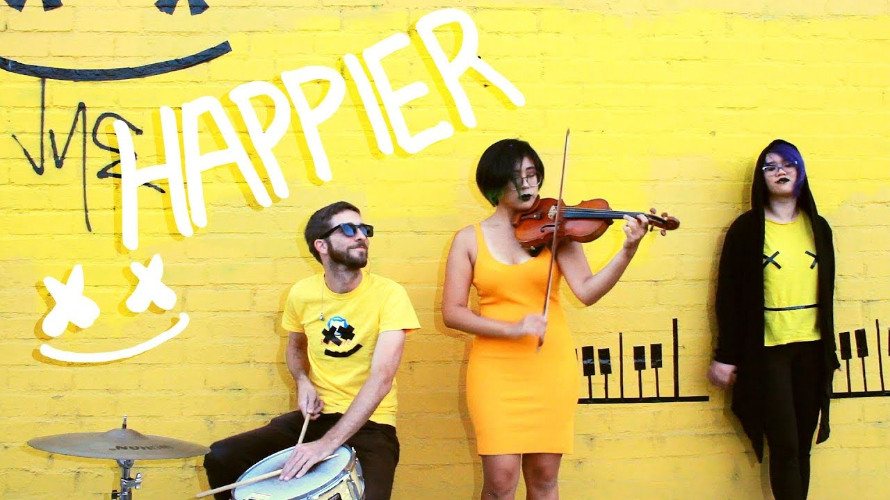 Happier (Marshmello + Bastille) ~ acoustic/violin cover image