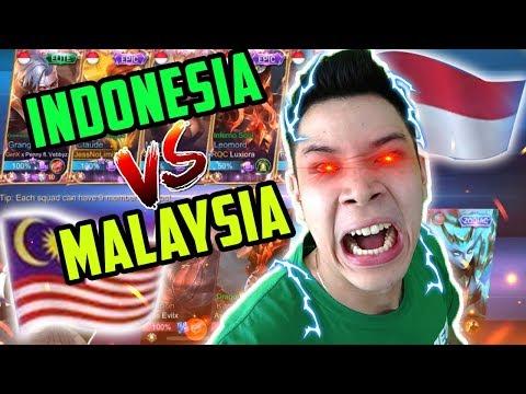 INDONESIA VS MALAYSIA, KOK MALAH GINI MAINNYA :( - Mobile Legends