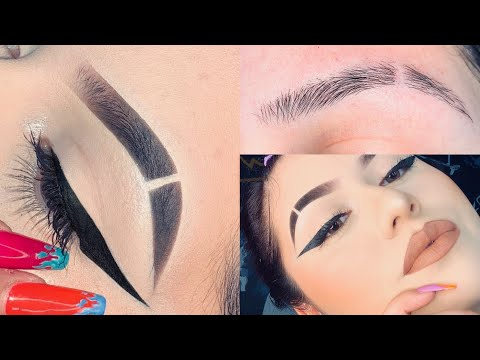 How To SLIT Eyebrows And Eyebrow Tutorial | Kayla Martinez
