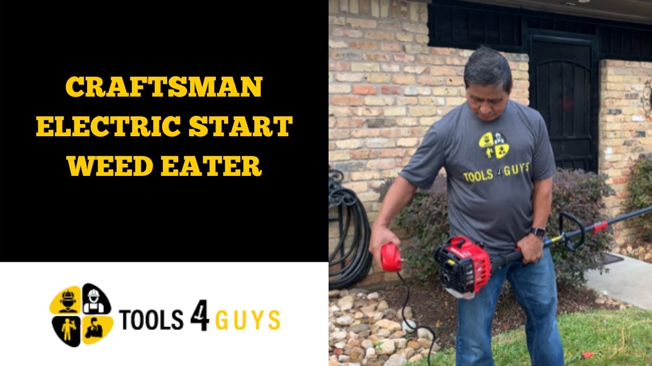 Craftsman Electric Start Weed Eater Youtube