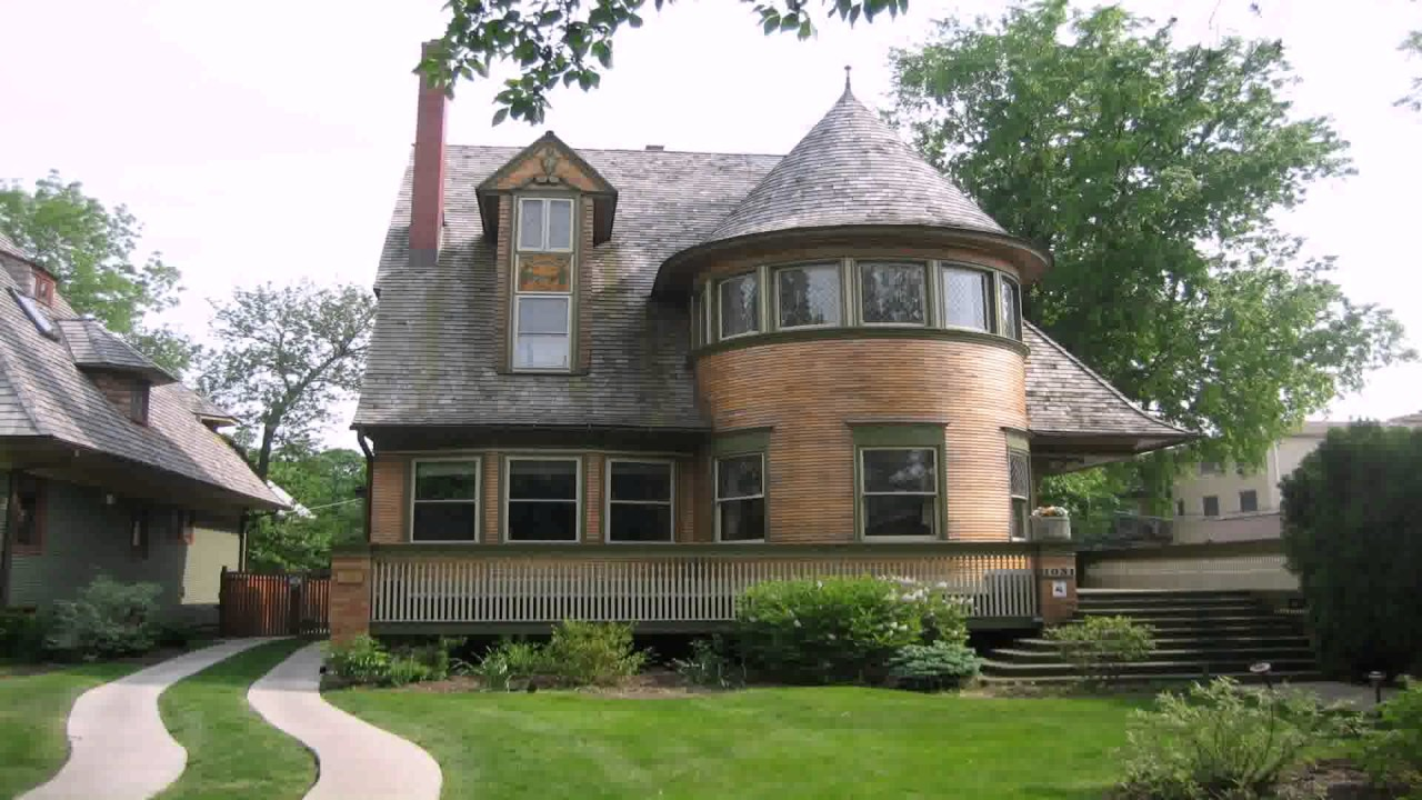 Prairie style house plans frank lloyd wright youtube for Prairie house plans