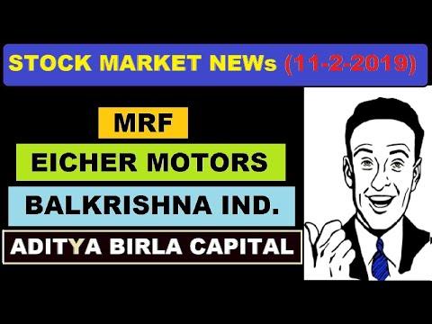 (Balkrishna ind) (MRF) (Eicher motors) (Aditya Birla capital) stock market news in Hindi by SMkC