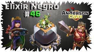 CLASH OF CLANS - EM BUSCA DO ELIXIR NEGRO #46 UPANDO A RAINHA PARA O NÍVEL 39 TA FICANDO TOP