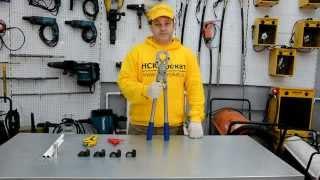 Как обжать метало пластиковую трубу механическими пресс-клещами(Как самому соединить метало пластиковые трубы для водопровода и отопления, используя ручные пресс-клещи., 2014-03-25T07:20:48.000Z)