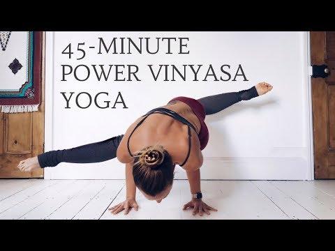 POWER VINYASA YOGA FLOW | 45-Minute Yoga Sequence | CAT MEFFAN