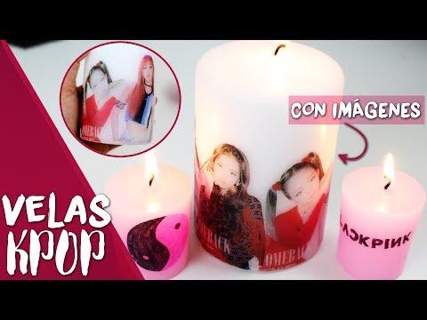DIY KPOP: ¡Decora velas con imágenes KPOP! ☯ |K-freak| BLACK PINK, 마지막처럼, as if it's your last