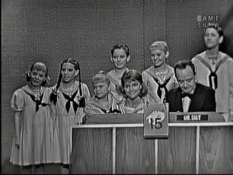 What's My Line?  Trapp family choir; Tony Randall panel Jul 3, 1960