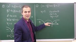 Алгебра 9. Урок 7 - Неравенства. Метод интервалов - основные факты