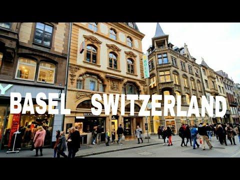 Walk Around In Basel City Center Switzerland.Volg/Traveling
