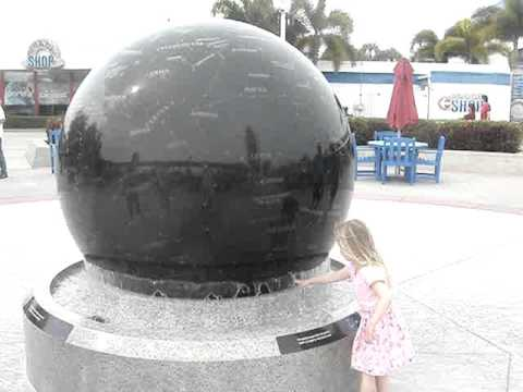 Floating globe rock at Kennedy Space Center