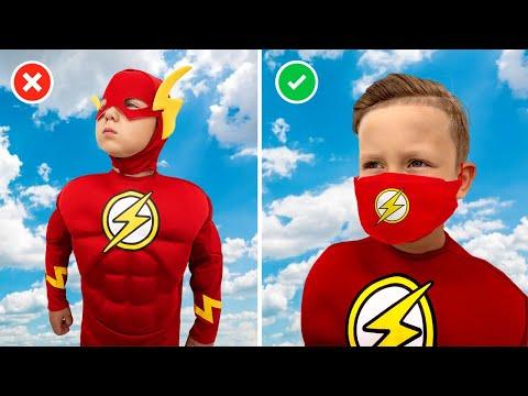 Сеня как Супергерой помогает Маме и Папе