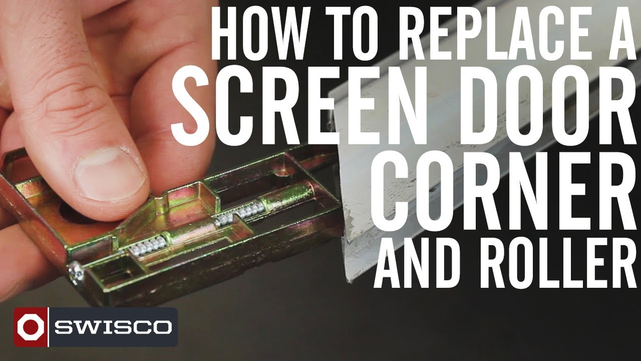 How To Replace A Screen Door Corner And Roller 1080p