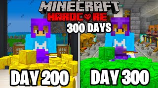 I Survived 300 Days in HARDCORE Minecraft...
