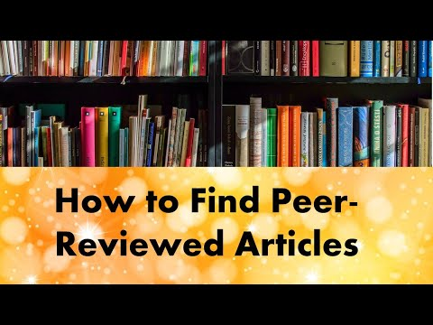 How to find peer-reviewed articles for nursing essays