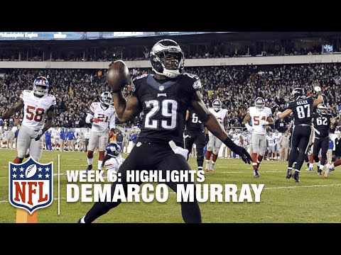 DeMarco Murray Highlights (Week 6)   Giants vs. Eagles   NFL