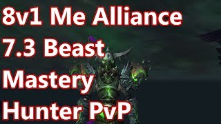8v1 ME ALLIANCE - 7.3 Beast Mastery Hunter PvP - WoW Legion