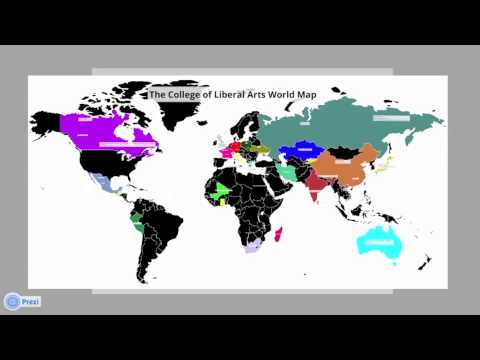 College of Liberal Arts World Map