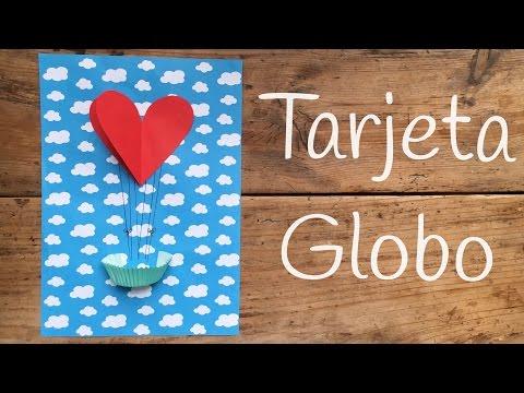 Tarjeta globo, una tarjeta 3D para cumpleaños