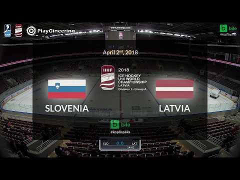 Slovenia - Latvia, Ice Hockey U18 World Championship, 2018