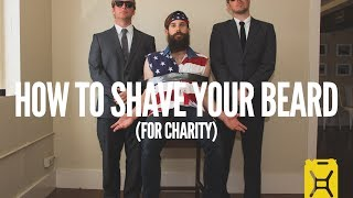 How To Shave Your Beard For Charity Water