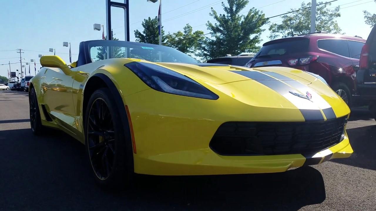 2018 Corvette Z06 Convertible Intro Start Up Racing Yellow Tincoat 2lz