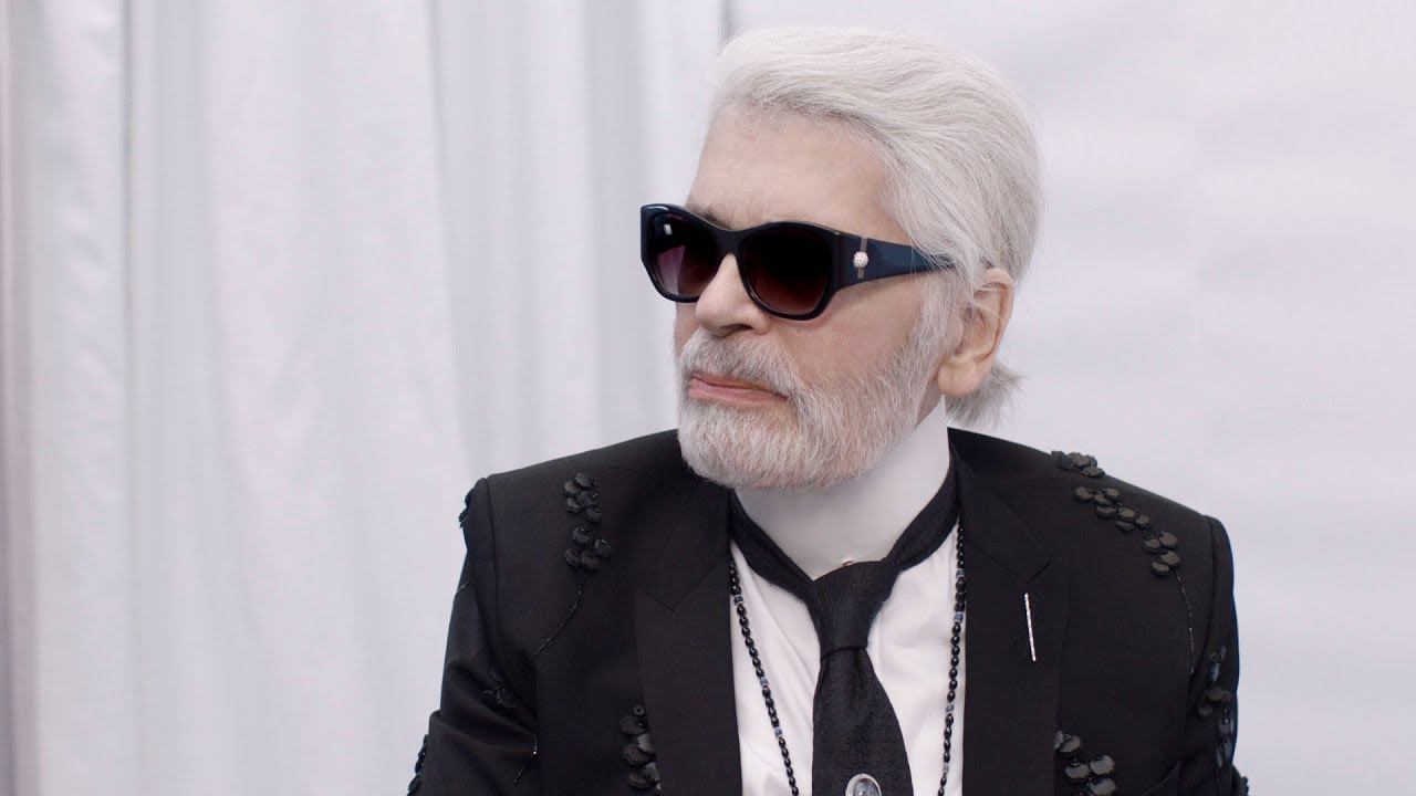 c4710a9241b Karl Lagerfeld at the Fall-Winter 2018 19 Ready-to-Wear Show — CHANEL