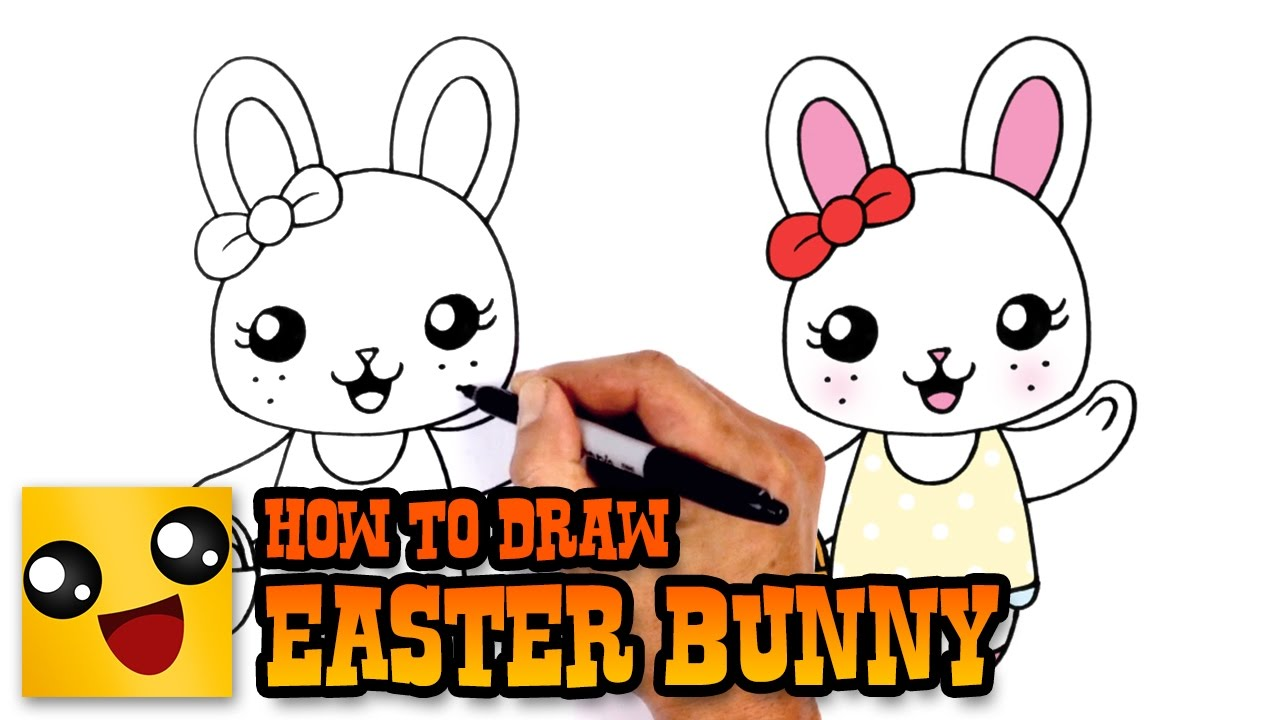 how to draw easter bunny drawing lesson youtube
