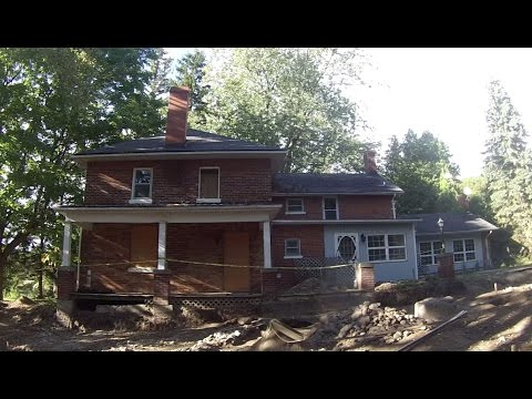Exploring an Abandoned House with an Archaeological Dig Site
