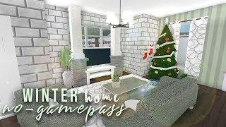Roblox | Bloxburg: No-Gamepass Winter Home | Speedbuild