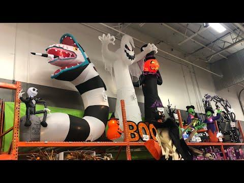 Home depot Halloween decorations walkthrough 2019 (Corona CA)